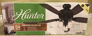 Hunter Osbourne 54 in. Noble Bronze Indoor Ceiling Fan with 3 LED Lights NEW