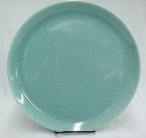 Diner Style Restaurant Ware Dish On Sale California Pottery 10.60 inch Turquoise Blue Dinner or Chop Plate