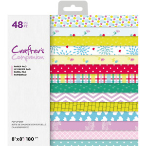 Crafter's Companion Pop Up Boxes Collection - 8x8 Paper Pad (48 Sheets)