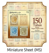 miniature sheets 150 years Malaysia straits settlements stamps
