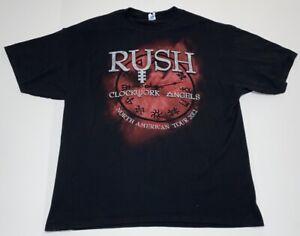 Rush Clockwork Angels 2012 Tour Shirt Size XL 100% Cotton M&O Heavy Weights