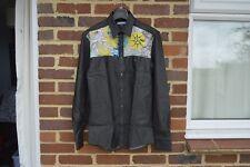VERSACE Denim and Silk Detail Shirt | Size 40 (M) RRP $700+