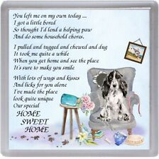 "Cocker Spaniel Dog Coaster ""HOME SWEET HOME Poem ..."" Novelty Gift by Starprint"