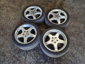"""Mercedes Benz SLK CLK AMG 17"""" 5 Spoke Staggered Alloy Wheels & Goodyear Tyres"""