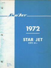 1972 SNO-JET SNOWMOBILE SUPER JET HIRTH 292cc  MODELS PARTS MANUAL (843)