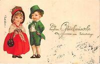 BG8841 boy and girl  children geburtstag birthday greetings germany