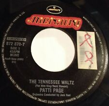 Patti Page 45 The Tennessee Waltz / With My Eyes Wide Open I'm Dreaming  reissue