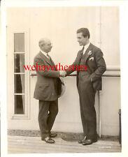 VINTAGE Ramon Novarro & Marcus Loew MGM EXECUTIVE '24 BEN HUR Publicity Portrait