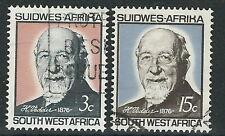 Südwestafrika - 90 Geb. Heinrich Vedder Satz gestempelt 1966 Mi. 327-328
