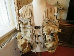 New British Army Issue Desert DPM Camo Tactical Load Carrying Vest With 6 Pouche