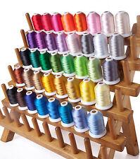 550Y 40 Colores hermano de costura Kit Hilo Poliéster máquina de bordar 500M ♫