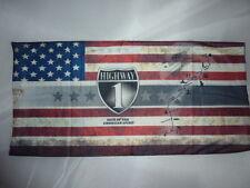 tour de cou, cagoule,bonnet, drapeau USA route 1 ,moto, ski, paintball, airsoft,