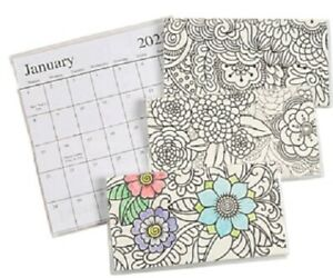 2022-2023 Adult Coloring 2 Year Planner Pocket Calendar *FREE SHIPPING*
