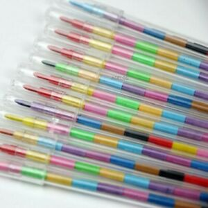 Stackable Colour Pencils Perfect for Party Bags - Pack Size 1 to 100 Non Toxic