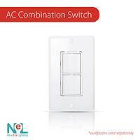 15 Amp, 120/277 Volt, Decora Single-Pole, Double Switch, Commercial Grade
