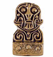 toller Wikinger  Anhänger aus Bronze Mittelalter Wikingergesicht m.Bart Amulett