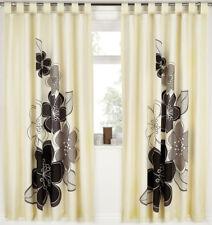 Candice, Black Flower Print Curtains 72s