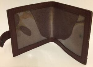 New Real Leather Shotgun Certificate Holder or Firearms Licence Wallet.. Brown.S