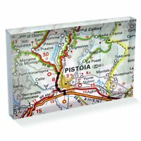 "Photo Block 6 x 4""  - Pistoia Europe Italy Italian Travel Map  #46123"