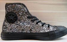 Converse Scarpe Donna nere glitterate All Star Nero 37