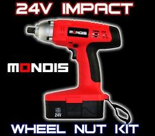 "Mondis 24V 1/2"" Cordless Impact Wrench Automotive Kit w/ 2 X BATTERIES"