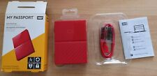 Western Digital My Passport 4tb 2,5 - pulgadas disco duro external en rojo Bello