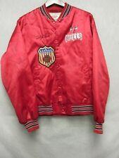 V5941 Locker Line Rojo Chicago Bulls Nailon Abrochable USA Made Chaqueta Hombre