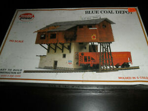 1/87 HO Blue coal Depot Construction kit by Model Power SEALED!