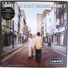 OASIS LP x 2 What's The Story REMASTERED Vinyl +MP3s Unreleased Trks + Promo Sht