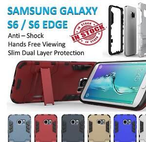 Samsung S6 Case S6 Edge Cover Armor Hard Kickstand Shockproof Tradesman Galaxy