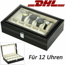 Für 12 Uhren Leder Uhrenbox Uhrentruhe Uhrenkasten Uhrenkoffer Uhrenschatulle
