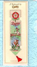 Woven Cash Book mark England St George Dragon Tudor Rose Christian Football Gift
