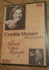 Cynthia Munzer: Mezzo-soprano Selected Opera Excerpts (DVD, 2004) NEW! music