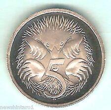 1988  PROOF AUSTRALIAN  FIVE  5 CENT COIN, ECHIDNA DESIGN