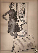 60's Kenneth Paul Block Illustrated Bonwit Teller Fashion Ad  1969