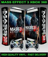 Xbox 360 Console Sticker Skin Mass Effect 3 style skin & 2 X Controller Skins