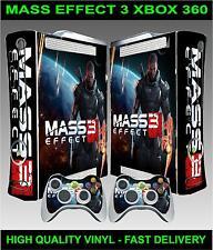Xbox 360 Console Sticker Skin Mass Effect 3 style skin & 2 X Controller Skins