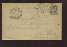 FRENCH COLS.1898 STATIONERY VF LIGNE MARITIME HOLLAND