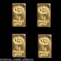 4 Gr G Gram 9999 24K GOLD Premium Bullion Bar Ingot lot