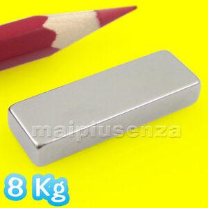 2 MAGNETI super potenti NEODIMIO 30x10x5 mm magnete calamita. Attrazione: 8 Kg