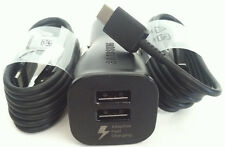 Samsung Dual Port Fast Car Charger + 2 USB-C Cable for Galaxy S8 S9 Note 8 Pixel