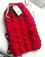 X small handknitted dog coat, suitable for Chihuahua, yorkshire terrier ect.