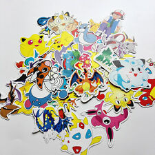 43pcs/lot pokemon stickers pikachu Skateboard Laptop Luggage Car