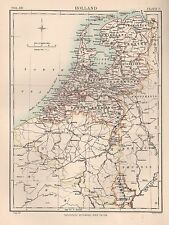 1898 ANTIQUE MAP EUROPE HOLLAND