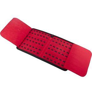 Knife Carrying Storage Zippered Case Pack Holds 42 Pocket Knives Red Felt Inter.