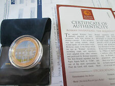 2010 ROMAN BRITAIN GOLD PLATED $1 INVENTIONS AQUADUCT COOK ISLANDS LOW MINTAGE