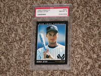 Derek Jeter 1993 Pinnacle RC Rookie Card #457 Yankees Hall of Fame HOF NYY PSA 8