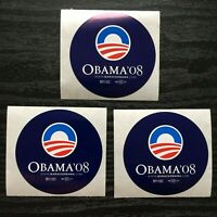 3 (THREE) Barack Obama - Stickers 2008