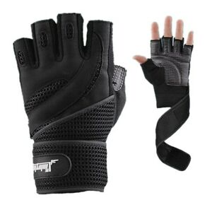 Men Weight lifting Gym Strength Training Fitness Gloves Workout Sports Exercise