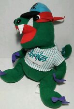 "Rancho Cucamonga  8"" Tremor Quakes Bean Bag Plush Green Alligator Mascot MLB"